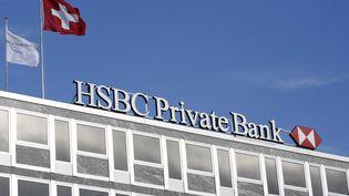 Le bâtiment de HSBC Private Bank, à Genève (Suisse), en août 2008. (DENIS BALIBOUSE / REUTERS)