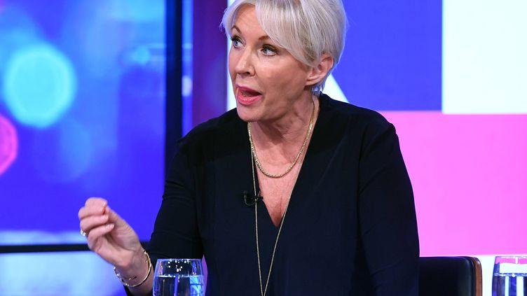 La députée britanniqueNadine Dorries dans une émission de télé, le 14 novembre 2018. (JONATHAN HORDLE/ITV/REX/SHUTTERSTOCK/SIPA / SHUTTERSTOCK)
