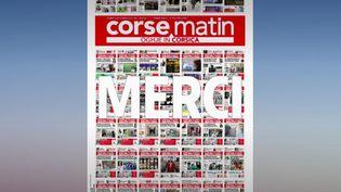 """Comme tous les soirs, France Télévisions prend des nouvelles de la presse écrite. Vendredi 1er mai, c'est Thomas Brunelli, le directeur de la publication et de la rédaction de """"Corse-Matin"""" qui a répondu à nos questions. (CAPTURE ECRAN FRANCE 2)"""