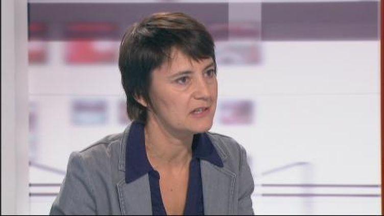 Nathalie Arthaud, candidate du Lutte Ouvrière à la présidentielle. (F2)