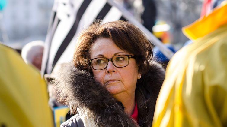 La présidente d'honneur du Parti chrétien démocrate, Christine Boutin, le 22 janvier 2017 à Paris. (JULIEN MATTIA / NURPHOTO / AFP)
