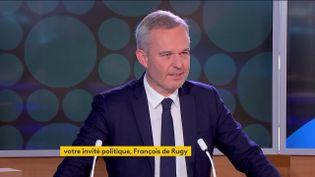 L'ancien ministre de la Transition écologique, François de Rugy, le lundi 18 octobre sur la chaîne franceinfo. (FRANCEINFO)