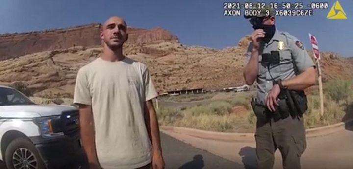 Brian Laundry, 12 sierpnia 2021 r. w stanie Utah, po tym, jak policja aresztowała go za historię niezgody małżeńskiej.    (HANDOUT/Departament Policji Miasta Moab)