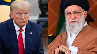 Donald Trump (G) / Le guide suprême Ali Khamenei (D). (SAUL LOEB / HO / AFP)