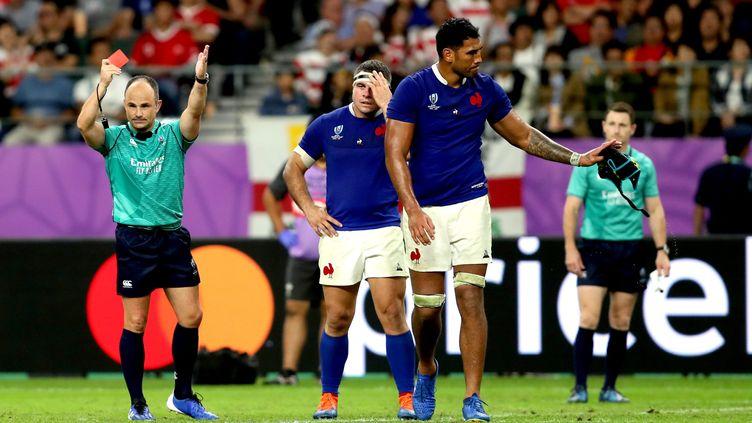 Sébastien Vahaamahina expulsé lors du quart de finale de Coupe du monde contre le Pays de Galles. (DAVID DAVIES / MAXPPP)