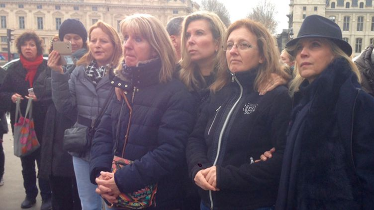 (Les filles et les avocates de Jacqueline Sauvage demandent une grâce présidentielle © Radio France/Fanny Bouvard)