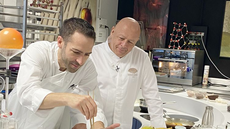 Thierry Marx et Raphaël Haumont au Centre Français d'Innovation Culinaire. (CFIC)