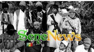 Des djihadistes sénégalais s'affichent avec leurs armes sur le site SeneNews. Certains d'entre eux n'hésitent pas à appeler à la guerre sainte dans leur pays. (Capture d'écran du site SeneNews)