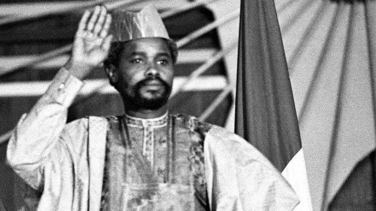 Hissène Habré à Ndjamena le 16 Aout 1983 (Photo AFP/Joel Robine)
