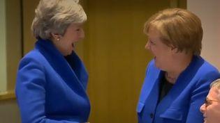 Laphoto, étonnante, a été prise en ouverture de la table ronde du sommet européen. (CAPTURE D'ÉCRAN FRANCE 2)