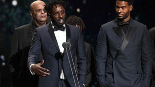 Le réalisateur Ladj Ly, le 28 février 2020, à Paris lors de la remise du César du meilleur film. (BERTRAND GUAY / AFP)