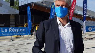 Le président du Conseil régional Auvergne-Rhône-Alpes Laurent Wauquiezpart très largement favori à sa propre réélection. (TIFANY ANTKOWIAK / RADIO FRANCE)
