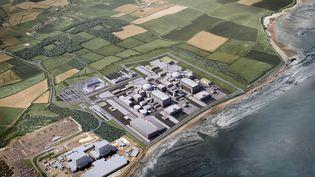 Modélisation du projet de centrale nucléaire Hinkley Point C, au Royaume-Uni. (HAYESDAVIDSON / EDF ENGERY / AFP)