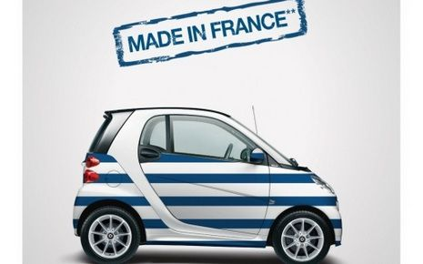 La smart version marinière. elle est produite àHambach en Moselle (France). (SMART)