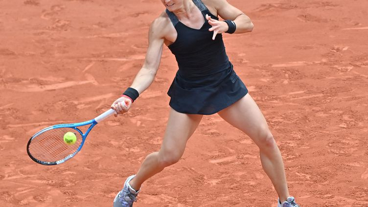 Maria Sakkari à Roland-Garros, le 9 juin 2021. (MUSTAFA YALCIN / ANADOLU AGENCY)