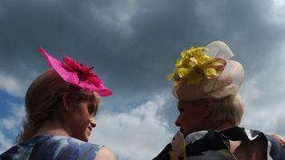 Premier jour des courses à Ascot(Royaume-Uni) et premiers défilés de chapeaux, le 19 juin 2012. (CARL COURT / AFP)