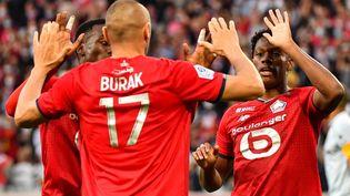 Burak Yilmaz et le LOSC s'imposent face à Reims. (DENIS CHARLET / AFP)