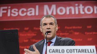 Le président italien Sergio Mattarella s'apprête à désigner, le 28 mai 2018, Carlo Cottarelli, incarnation de l'austérité budgétaire, pour diriger le pays vers de nouvelles élections. (CORTESA / NOTIMEX / AFP)