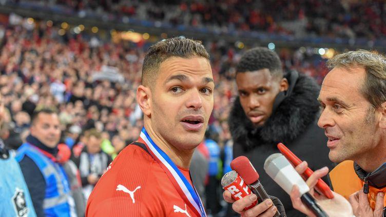 Hatem Ben Arfa après la victoire du Stade rennais en finale de la Coupe de France, samedi 27 avril 2019 au Stade de France à Saint-Denis (Seine-Saint-Denis). (STEPHANE VALADE / STEPHANE VALADE / AFP)