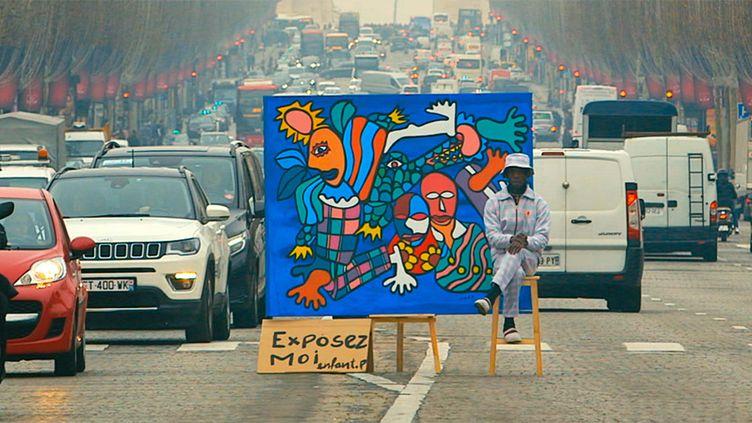 """""""Enfant Précoce"""" s'expose dans les rues de Paris (FRANCIS ESSOUA KALU)"""