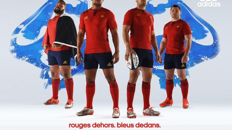 Le nouveau maillot du XV de France, dévoilé le 5 février 2015. (ADIDAS / FEDERATION FRANCAISE DE RUGBY)