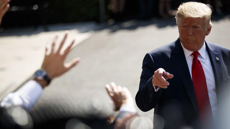 Donald Trump, le 9 août 2019, à Washington (États-Unis) (MAXPPP)