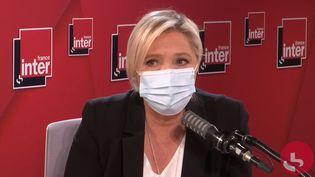 Marine Le Pen, le 10 décembre 2020, sur France Inter. (FRANCE INTER / RADIO FRANCE)
