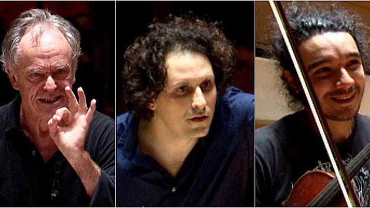 Jean-Claude Casadesus, Alexandre Bloch, Nemanja Radulovic  (France 3 / Culturebox)