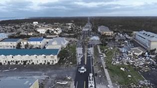 Mexico Beach en Floride, balayée par l'ouragan Michael (CAPTURE D'ÉCRAN FRANCE 3)