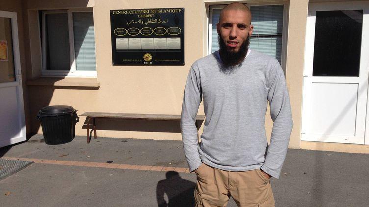 Rachid Abou Houdeyfa, imam salafiste de la mosquée de Brest (Finistère), le 29 septembre 2015. (MAXPPP)