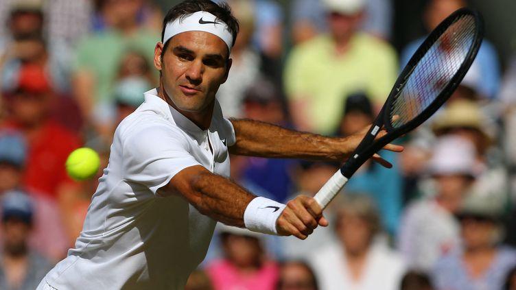 Roger Federer tentera de remporter un 9e titre à Wimbledon. (GARETH FULLER / AFP)