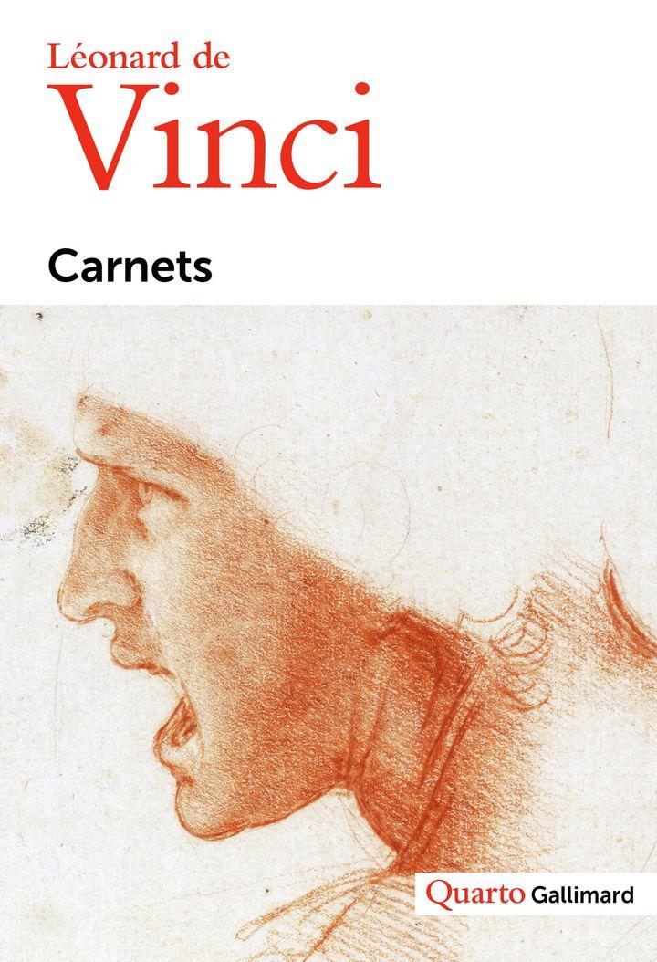 """Ptremière de couverture des """"Carnets"""" de Léonard de Vinci édités dans la collection Quarto de Gallimard. (Quarto - Gallimard)"""
