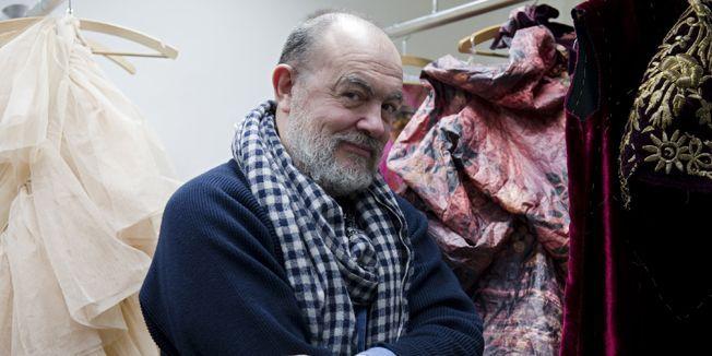Christian Lacroix à l'Opéra de Francfort, février 2012  (EMILY WABITSCH / AFP )