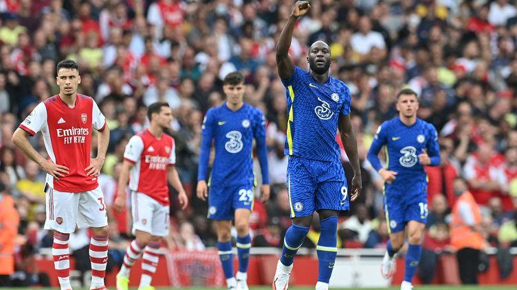 Romelu Lukaku a ouvert le score face à Arsenal, le 22 août. (JUSTIN TALLIS / AFP)