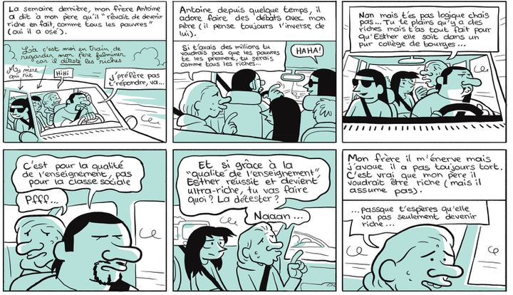 """""""Les cahiers d'Esther - Histoires de mes 12 ans"""" (Tome 3 - page 16)  (Riad Sattouf / Allary Editions)"""