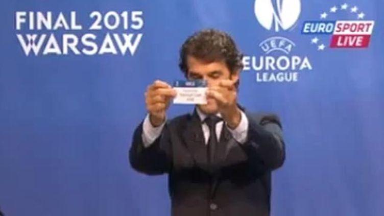(Le tirage au sort des demi-finales a eu lieu à la mi-journée © capture d'écran EuroSport)