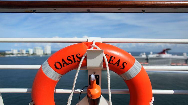 Un navire de croisière Oasis, le même qui va être construit sur les chantiers navals de Saint-Nazaire(Loire-Atlantique). (JOE RAEDLE / GETTY IMAGES NORTH AMERICA / AFP)
