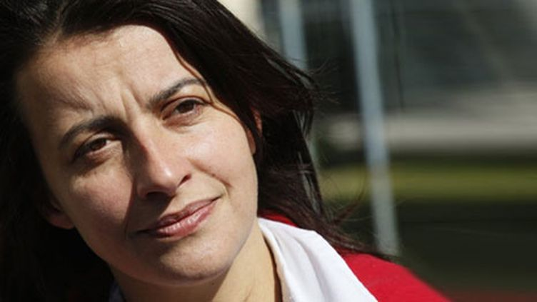 Cécile Duflot, secrétaire nationale des Verts le 18 setembre 2010 (AFP/THOMAS SAMSON)