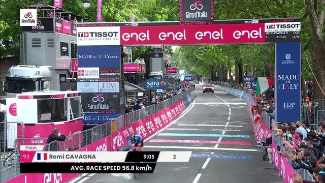 Tour Italy 2021 - prima tappa.  Rémi Cavagna (Deceuninck - QuickStep) era attesissimo al processo di apertura del Giro, il francese non è riuscito a giocarsi la vittoria a Torino.