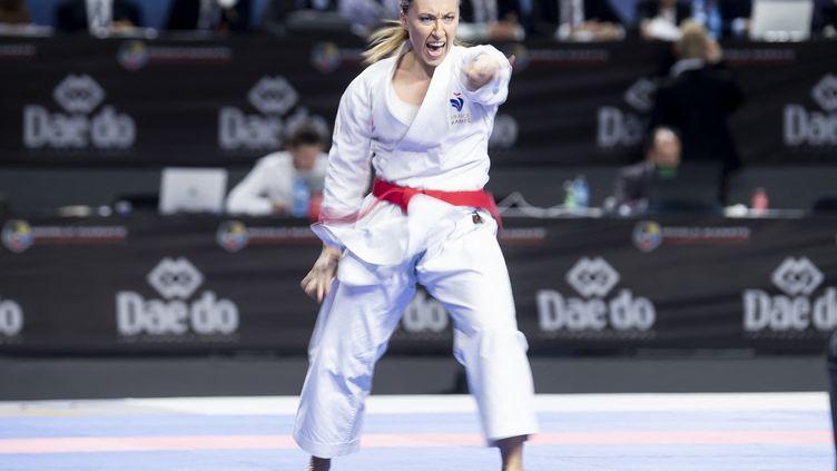 Alexandra Feracci lors des Championnats du monde de karaté en novembre 2018 à Madrid. (BORJAB HOJAS/NurPhoto via AFP)