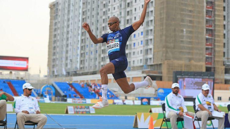 Ronan Pallier, ici lorsdes Championnats du monde Handisport d'athlétisme de Dubaï, en novembre 2019. (Florent Pervillé / Bleuhandisport)