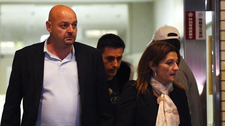 Les parents de Jules Bianchi, Philippe et Christine (TOSHIFUMI KITAMURA / AFP)