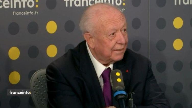 Jean-Claude Gaudin, maire LR de Marseille, jeudi 28 novembre 2019 sur franceinfo. (FRANCEINFO / RADIOFRANCE)