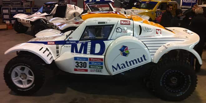 Le buggy du team MD Rallye que pilotera Romain Dumas lors du Dakar 2015