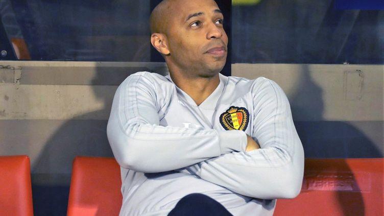 Thierry Henry lors du match Belgique-Suisse le 12 octobre 2018. (LAURENT LAIRYS / LAURENT LAIRYS)