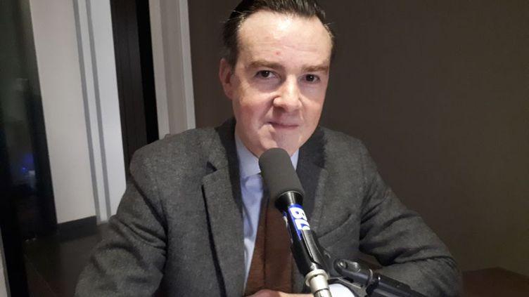 Jean Luc Coronel de Boissezon est revenu pour la première fois sur les violences à la faculté de droit de Montpellier (Hérault), depuis sa mise en examen. (RADIO FRANCE / GUILLAUME ROULLAND)