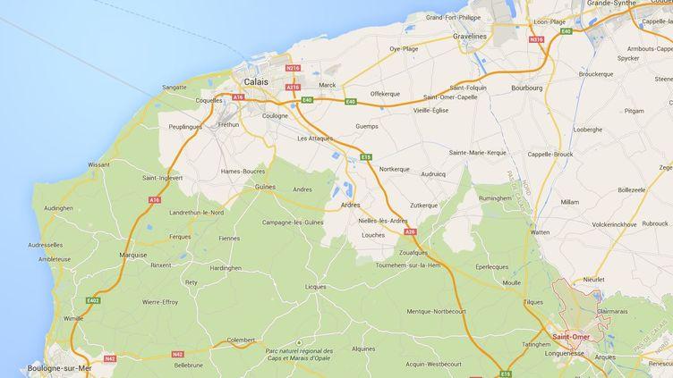 Le passeur a été arrêté au péage de Setques, près de Saint-Omer, dans la nuit du jeudi 30 avril au vendredi 1er mai 2015. (CAPTURE D'ECRAN GOOGLE MAPS / FRANCETV INFO)