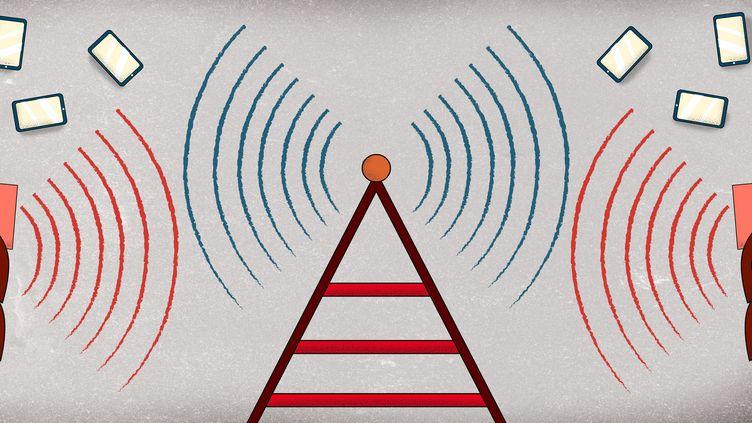 Les opposants à la 5G avancent de nombreux arguments contre cette téléphonie mobile de cinquième génération, mais tous ne sont pas exacts. (BAPTISTE BOYER / FRANCEINFO)