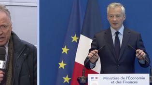 La mesure sur le dispositif fiscal imaginée par le gouvernement pour faire payer les géants du Net a été présentéece mercredi 6 mars au conseil des ministres. (France 2)