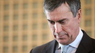 L'ancien ministre du Budget Jérôme Cahuzac le jour de sa passation de pouvoirs avec Bernard Cazeneuve à Bercy, le 20 mars 2013. (MAXPPP)
